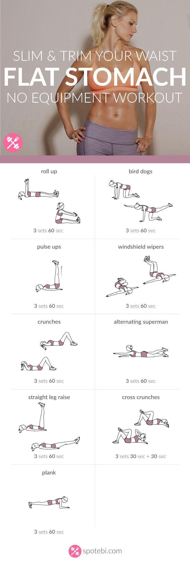 flat stomach workout fitness pinterest flat stomach workouts