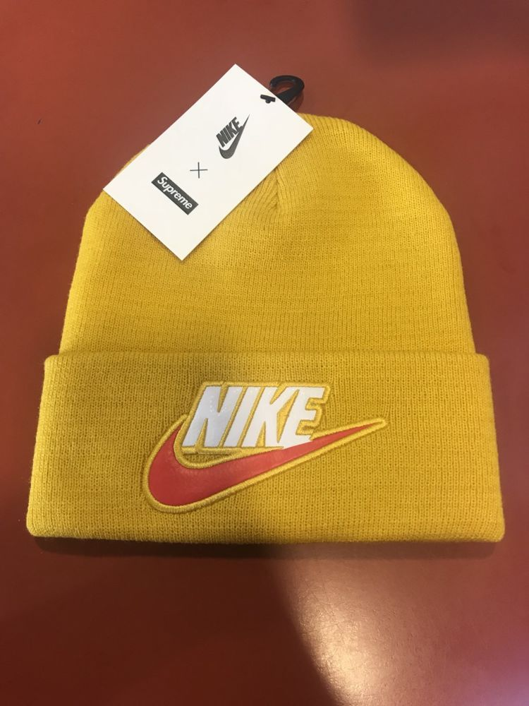 c6f05e84239bb3 Supreme X Nike beanie yellow FW18 IN HAND #fashion #clothing #shoes  #accessories #mensaccessories #hats #ad (ebay link)