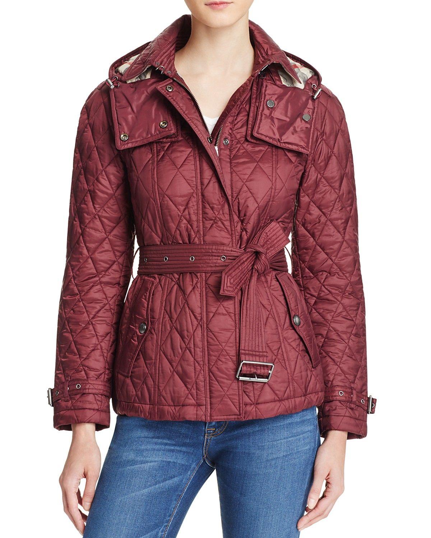 Burberry Short Finsbridge Quilted Coat Bloomingdale's