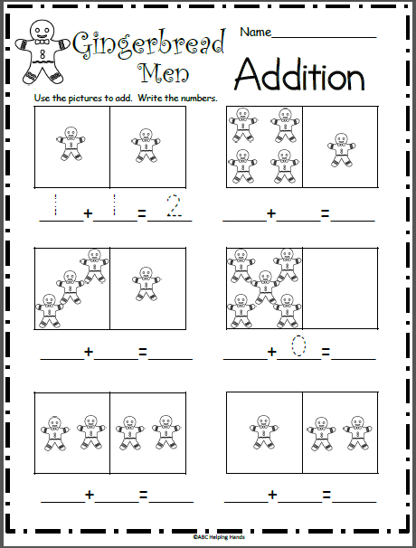 Gingerbread Man Addition Math Worksheet Madebyteachers Math Worksheet Gingerbread Activities Gingerbread Worksheets