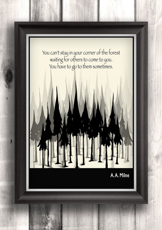 Literary Posters, A. A. Milne Quote, Illustration Art