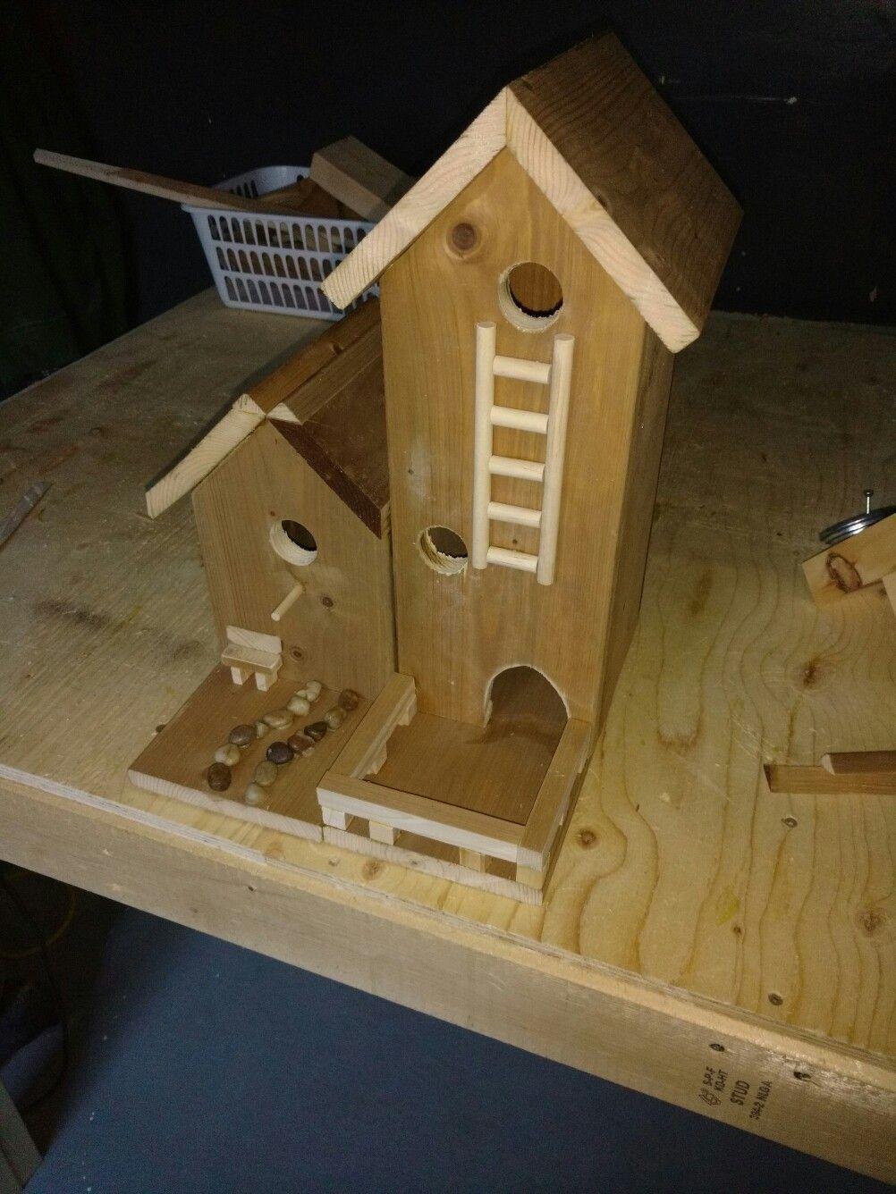 Side by side diy fence board bird house diy wood working