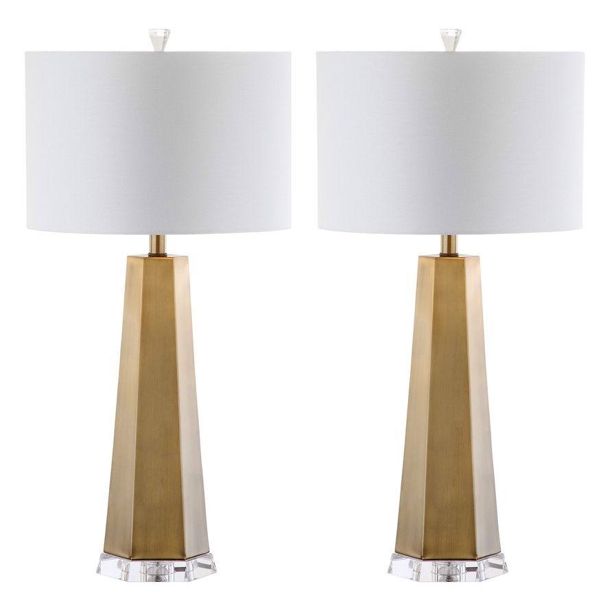Safavieh Auster 2 Piece Table Lamp Set Table Lamp Sets Lamp Sets Brass Table Lamps