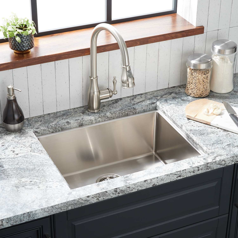 24 Ortega Stainless Steel Undermount Kitchen Sink Rear Drain Stainless Steel Kitchen Sink Stainless Steel Kitchen Sink Undermount Stainless Steel Undermount