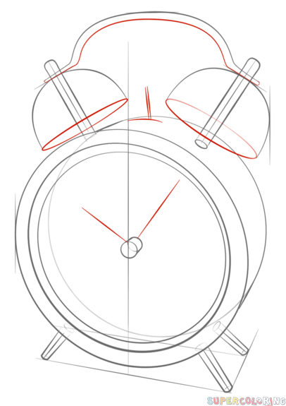 how to draw a clock tower step by step