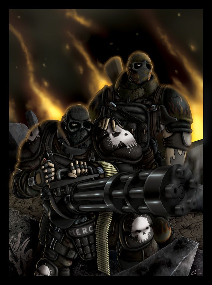 Army Of Two By Dnatemjin On Deviantart Army Of Two Army Art