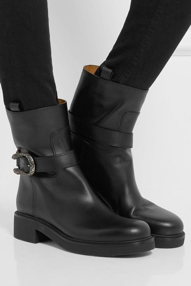 598bf27b831 Heel measures approximately 25mm  1 inch Black leather Pull on Made in Italy