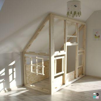DIY Ein Hausbett im Kinderzimmer chellisrainbowroom