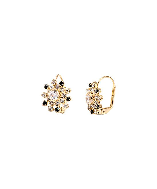 0316900d6 Black & Gold Spike Huggie Earrings With Swarovski® Crystals ...