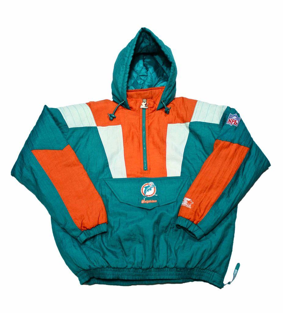 Vintage 90s Starter Miami Dolphins Starter Jacket Mens Size Large Mode Vintage Mode