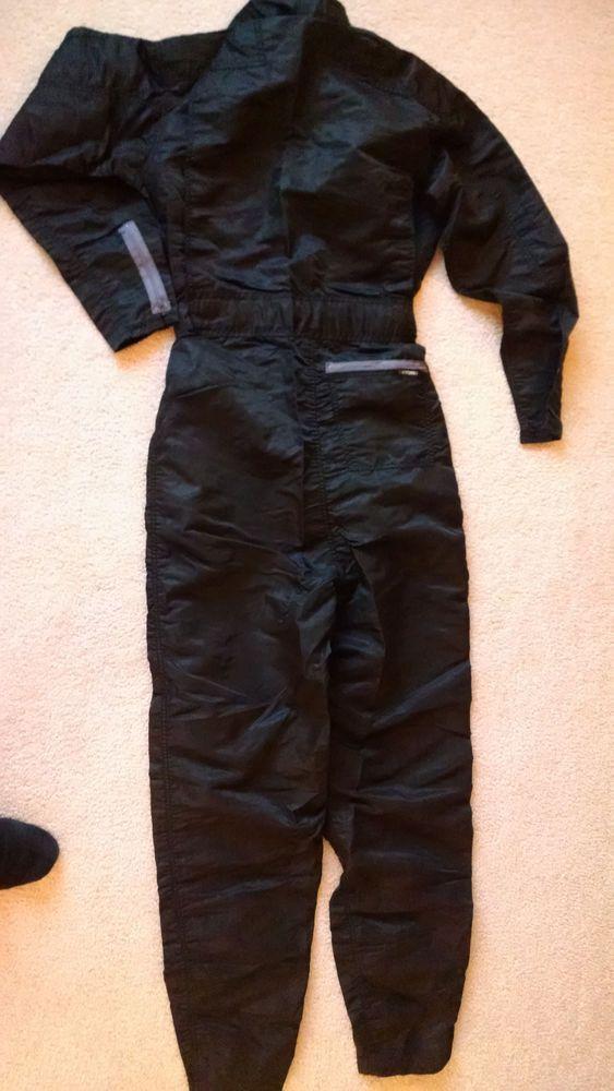 mens bugle boy parachute pants suit jumpsuit black retro vintage