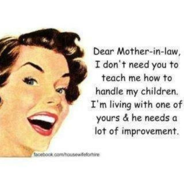 Something my daughter n law will never be able to say about me!