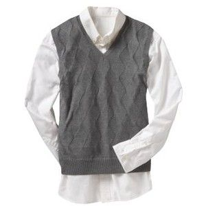 Argyle-Knit Sweater Vest - Heather Gray | My Style | Pinterest
