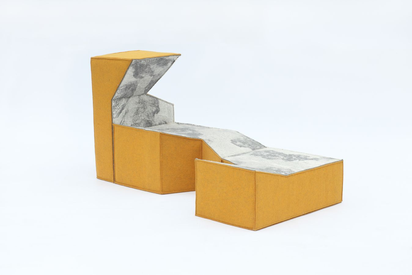 4=1 This futuristic design of the sofa is based on the ...