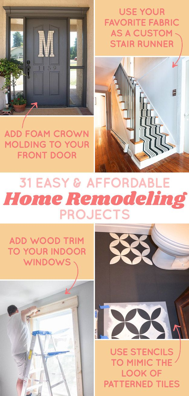 Give Your Home A Mini Makeover Without Committing To A Huge Renovation Affordable Remodeling Diy Home Improvement Home Remodeling Diy