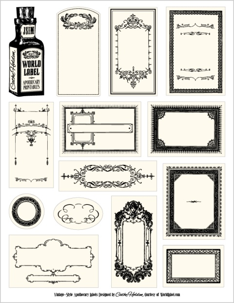Free Wedding Printables for Your DIY Wedding Apothecaries Free