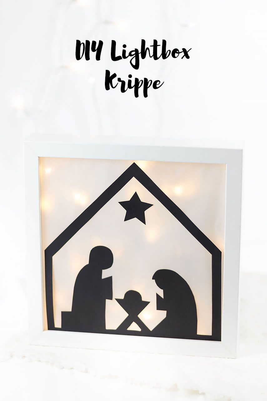 24 Diy Lightbox Krippe Basteln Weihnachten Papier