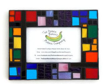 Mosaic Picture Frame 5 x 7 Picture Size by GreenBananaMosaicCo