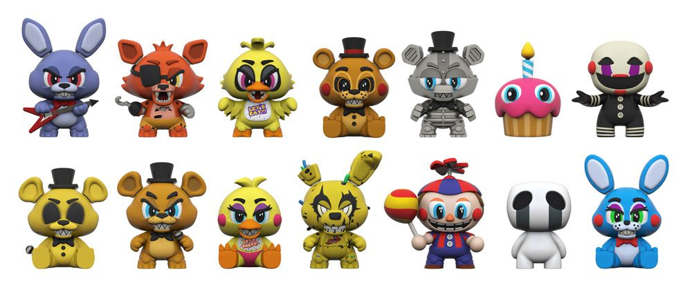 6 99 Mystery Minis Five Nights At Freddy S Series 1