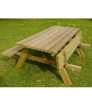 Mesas picnic bancos madera jardin mesas de madera for Mesas jardin madera baratas