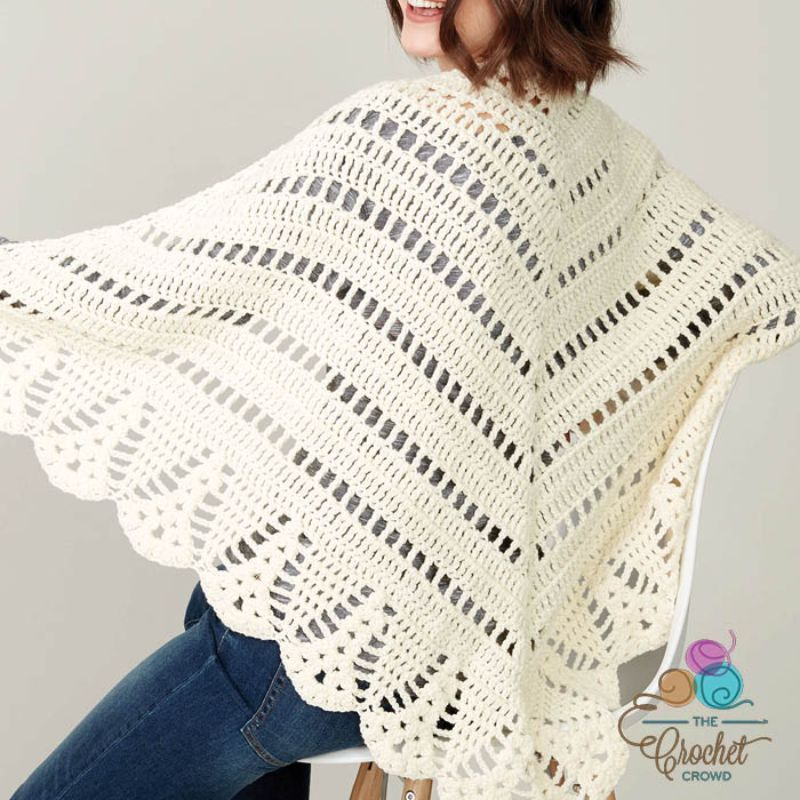 Crochet Prayer Shawl Free Pattern This is simple yet definitely delightful shawl. It looks delicate and feminine in white but try #prayershawls Crochet Prayer Shawl Free Pattern This is simple yet definitely delightful shawl. It looks delicate and feminine in white but try #prayershawls