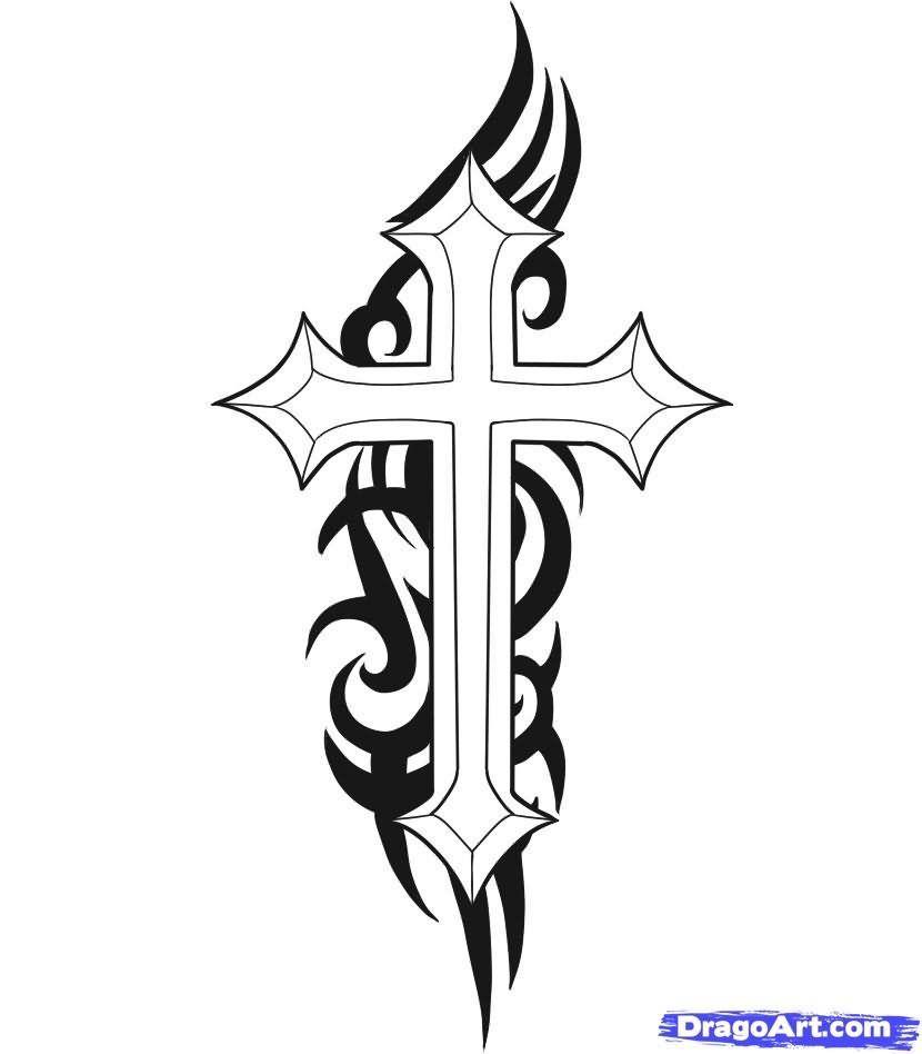 Tribal Cross Tattoo Design Tatoos Tattoos Cross Tattoo Designs