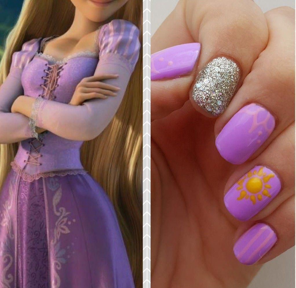Rapunzel Nails Geeknailsdesign Disney Princess Nails Disney Nail Designs Simple Disney Nails
