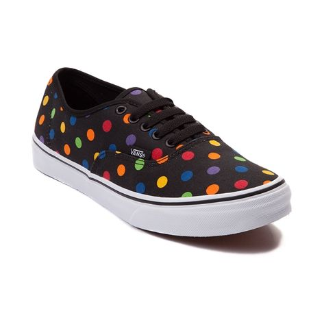 63649f4ee0 Don t get put on the spot without the Authentic Slim Dots Shoe from Vans!  Step out in style with this Authentic Slim featuring a polka dot printed  canvas ...