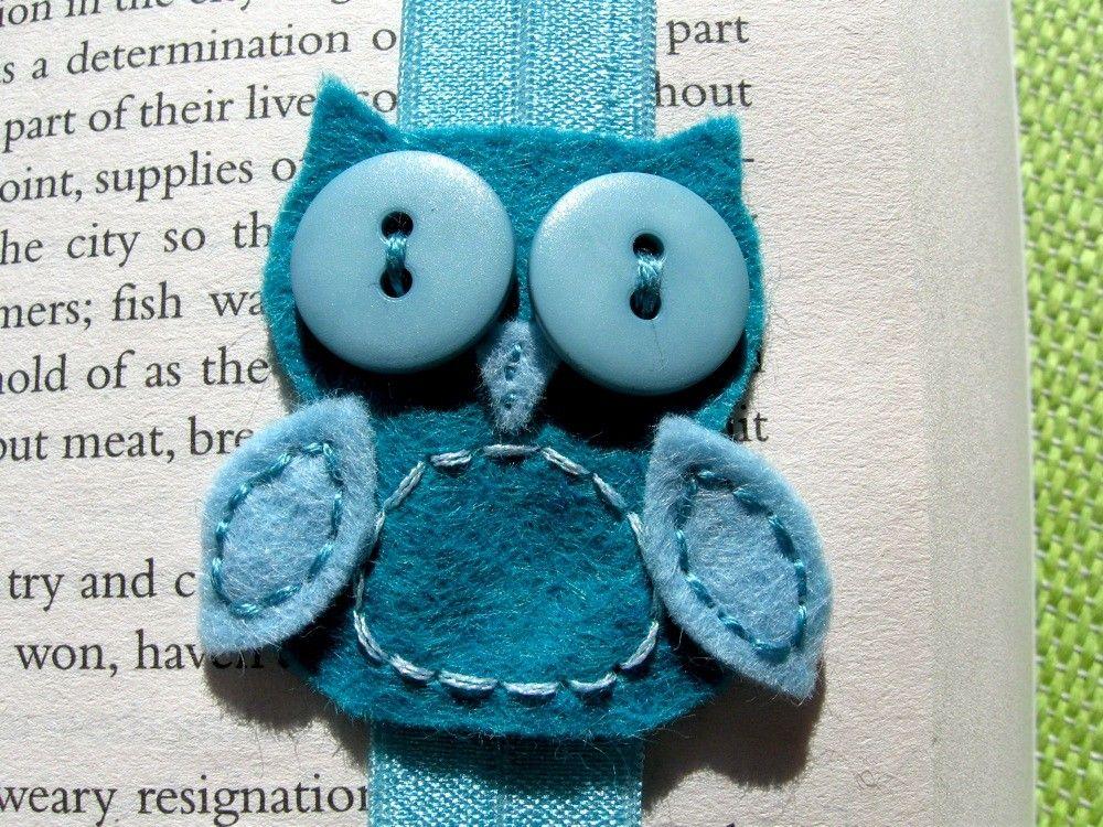 Teal Owl Headband plus Hardcover Bookmark door BlueEyedNightOwl