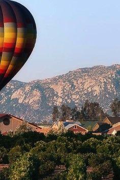 hot air balloons & wine!