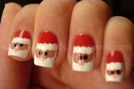 Easy Santa Nail Art Designs Ideas 2013 2014 Santa Nail Art Christmas Nails Xmas Nails