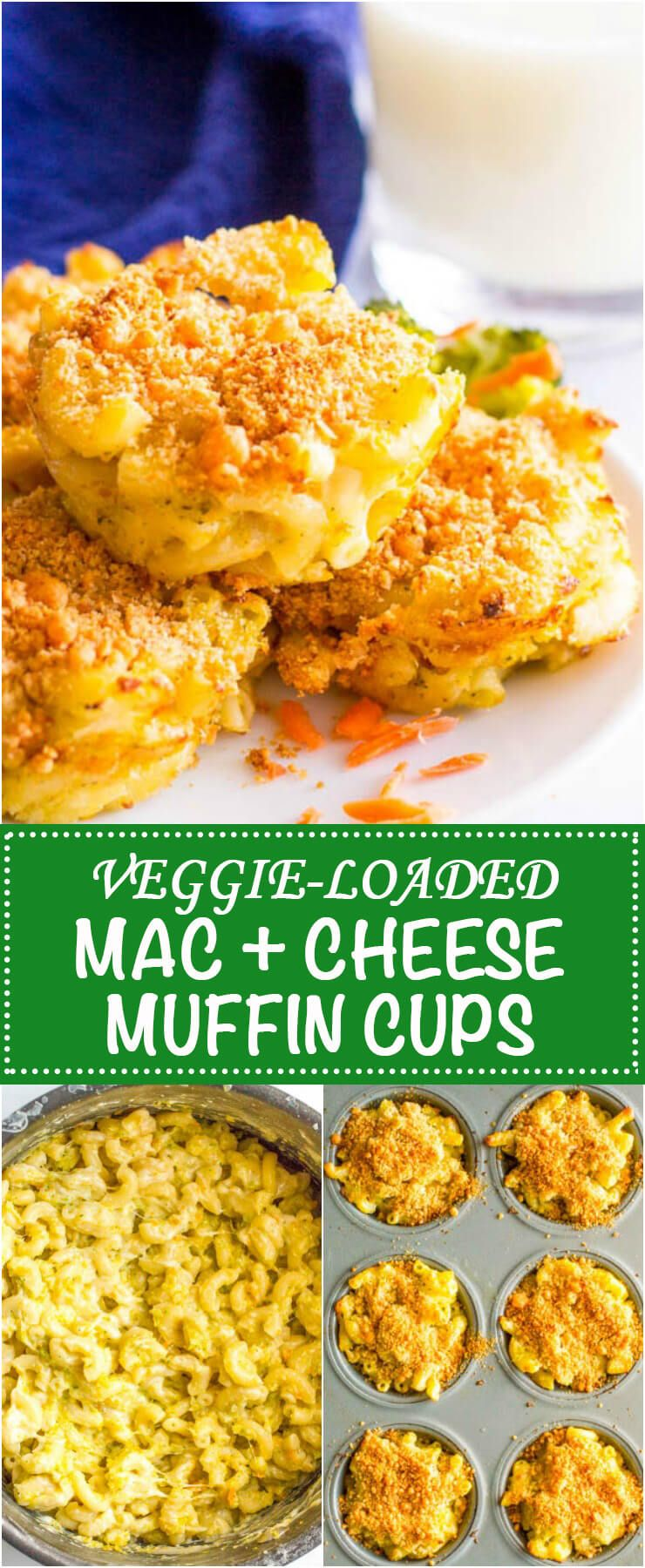 Veggie Mac And Cheese Muffins