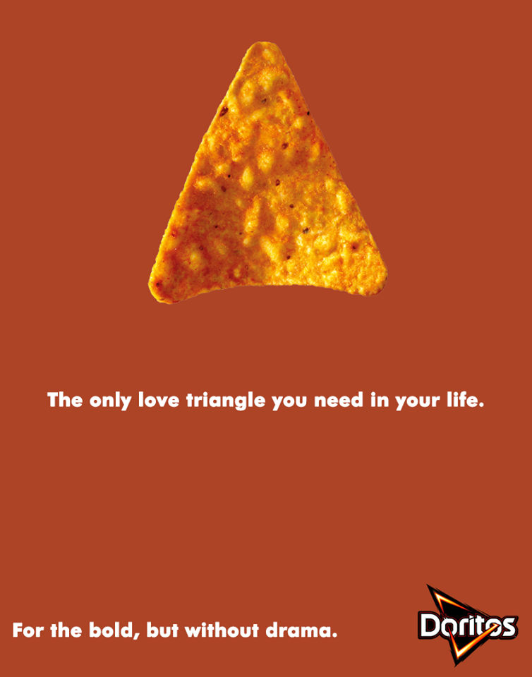 Creative Print Ads, 365 Day Copywriting Challenge - Doritos