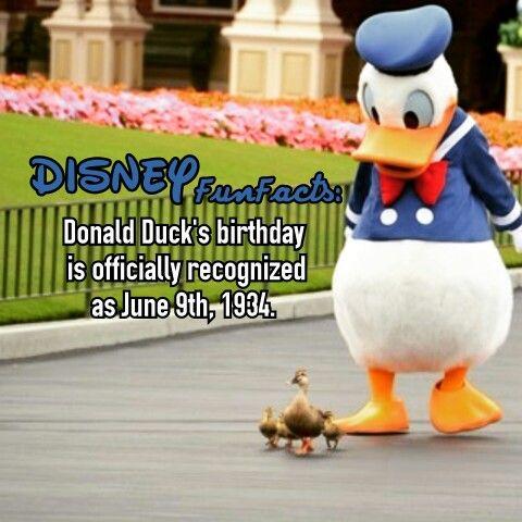 Donald Duck birthday disney fact