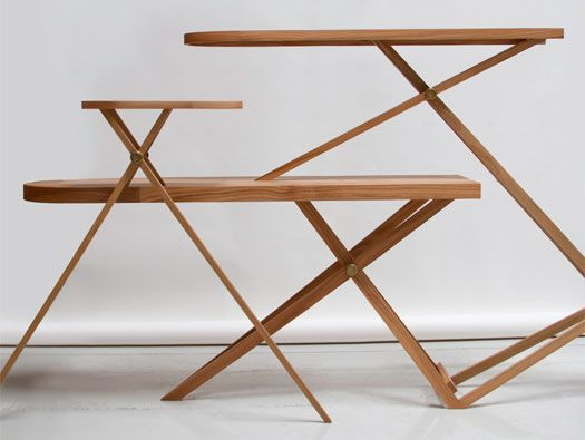 Iron Board Cabinet and Pin Stool by Kiki van Eijk