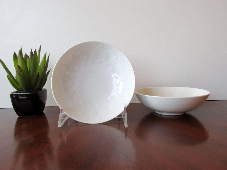 Vintage Rosenthal Germany Studio Line White Lotus Desert Bowls Bjorn Wiinblad White Dinnerware Set & Vintage Rosenthal Germany Studio Line White Lotus Desert Bowls ...