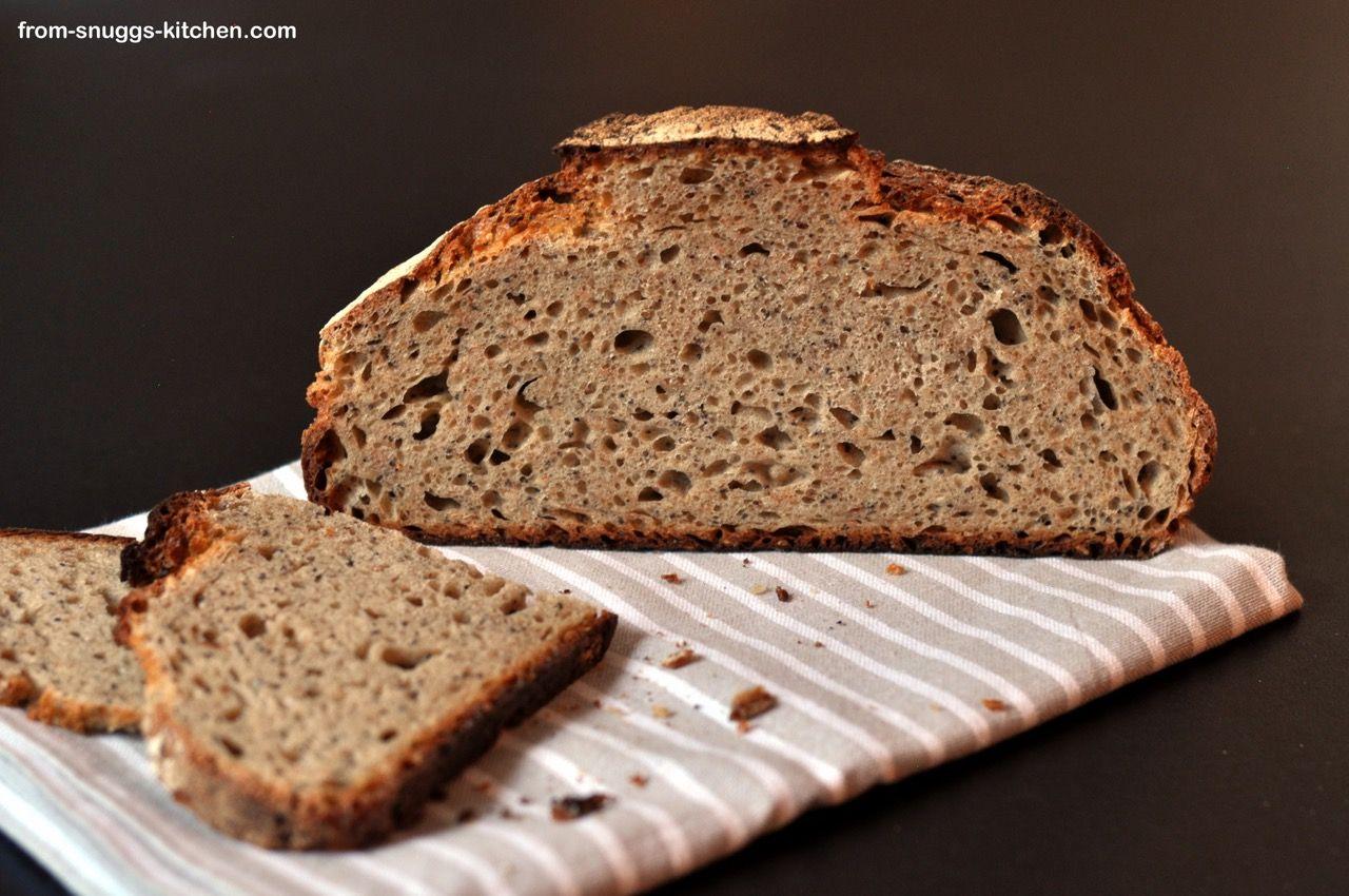 spelt-rye-bread with clabbered milk / dinkel roggen brot ...