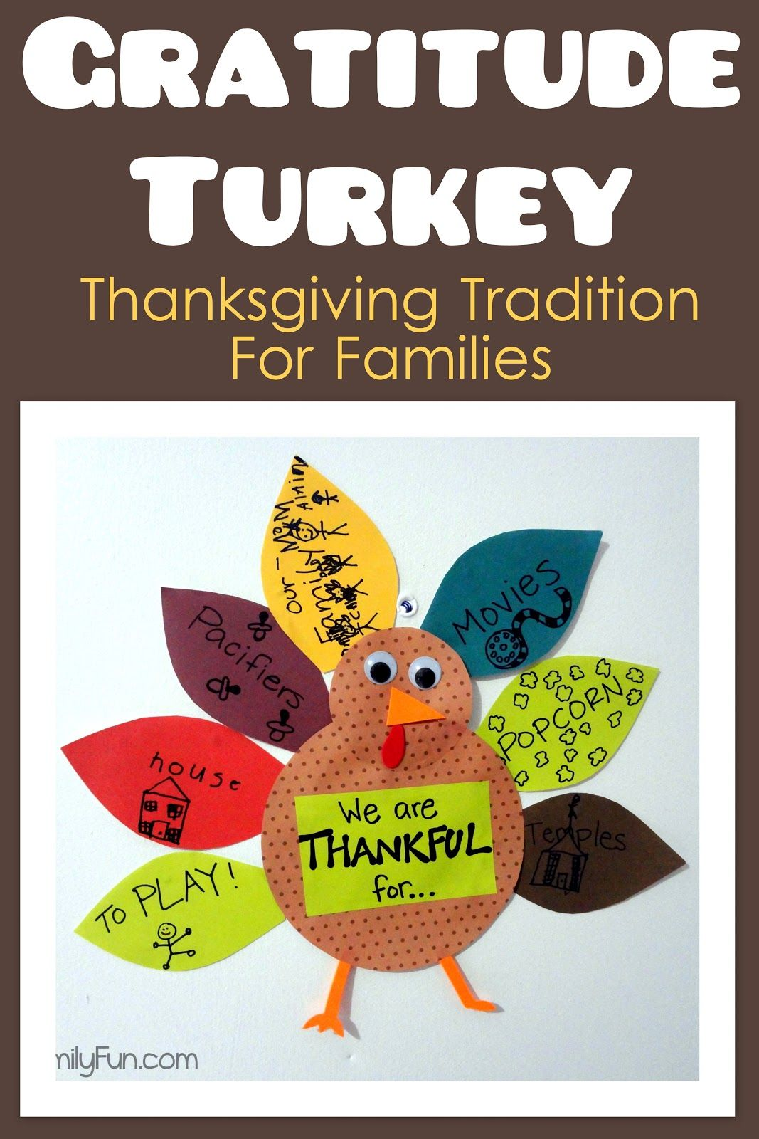 We Make A Gratitude Turkey Every Year This One Id Cute