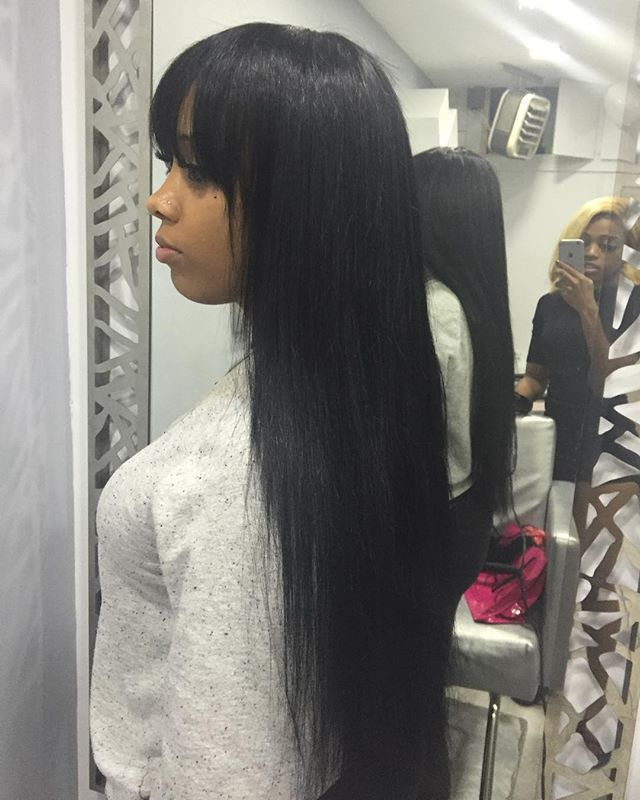 Sew Weave Side Bangs
