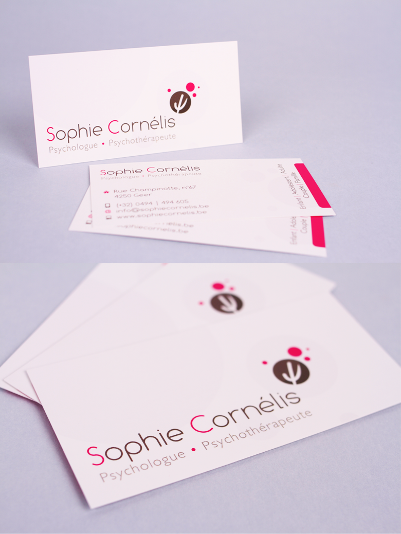 Corporate Sophie Cornelis Psychologue Psychothrapeute Carte Visite Cartes
