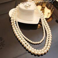 Boda de corea dressnecklace mujer multi-pearl joyería