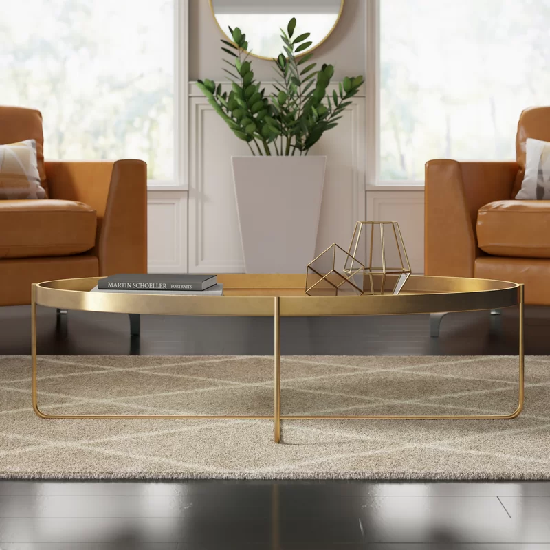 Massenburg Cross Legs Coffee Table with Tray Top in 2020 ...
