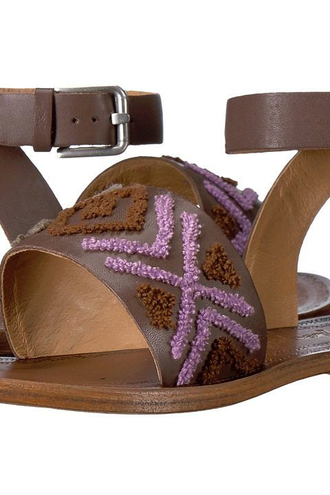 Free People Torrence Flat Sandal (Mauve) Women's Sandals - Free People, Torrence  Flat