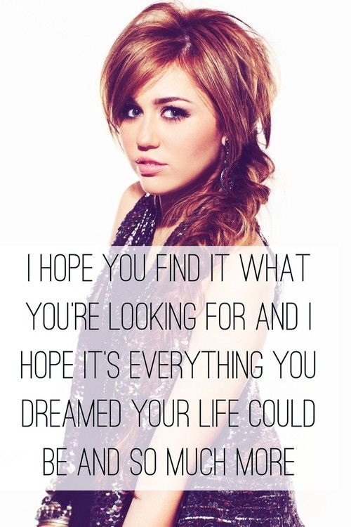 Idea by Veronika Hladová on Miley Cyrus Quotes Best