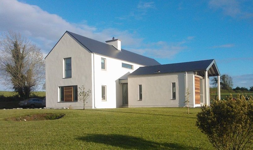 P This Project Was Conceived As A Contemporary Variation On The Traditional 2 Storey Gabled Rural Single Storey House Plans House Designs Ireland Gable House