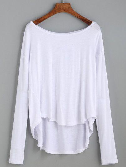 T Shirt Vorne Kurz Hinten Lang Weiß Miia Shirts T Shirt Und