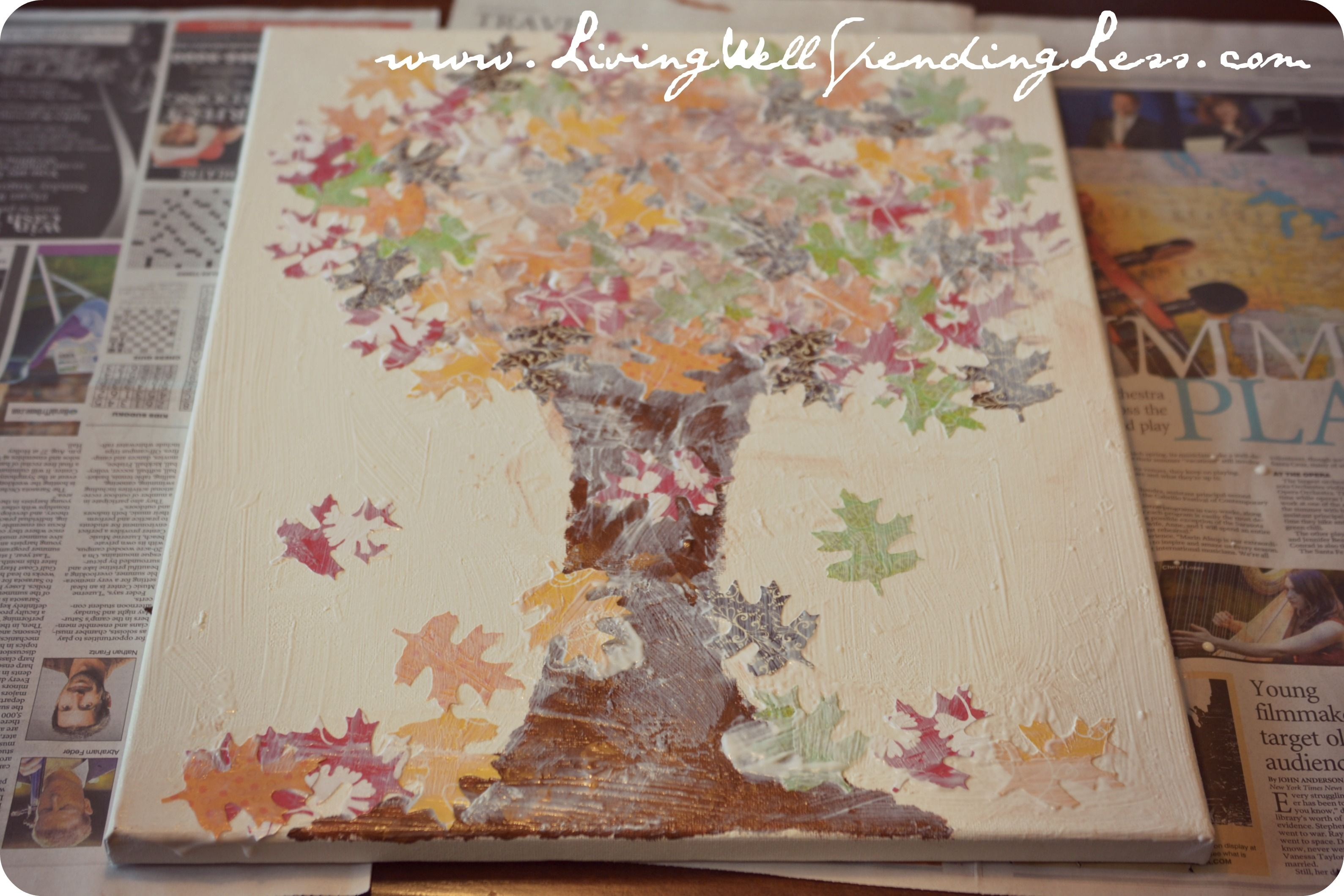 Fall Leaves Canvas Art