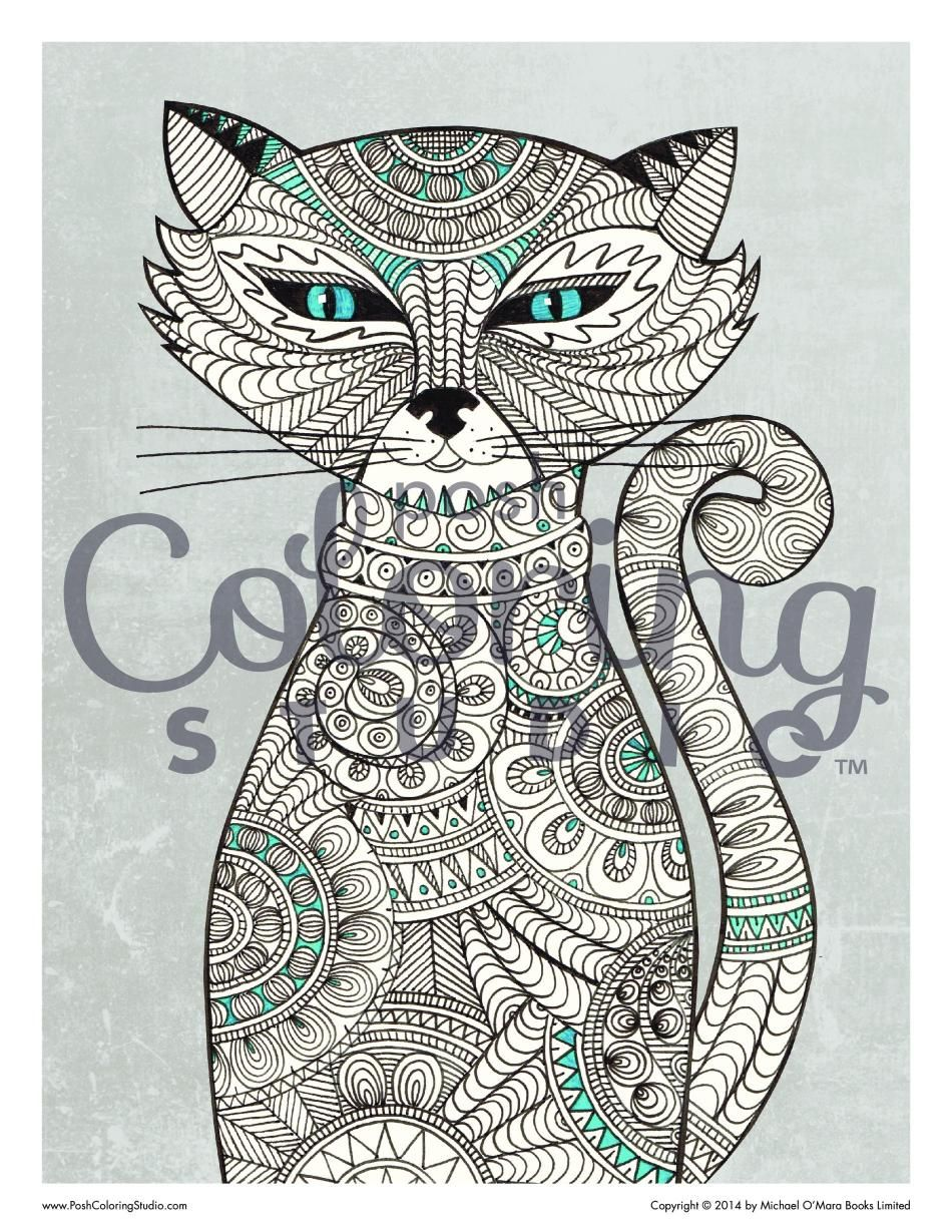 Sly cat coloring page posh coloring studio animal coloring pages