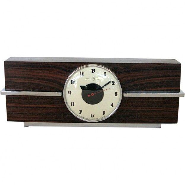 TFTM - Gilbert Rohde for Herman Miller - Rare Art Deco Rosewood Clock by Gilbert Rohde for Herman Miller ($200-500) - Svpply