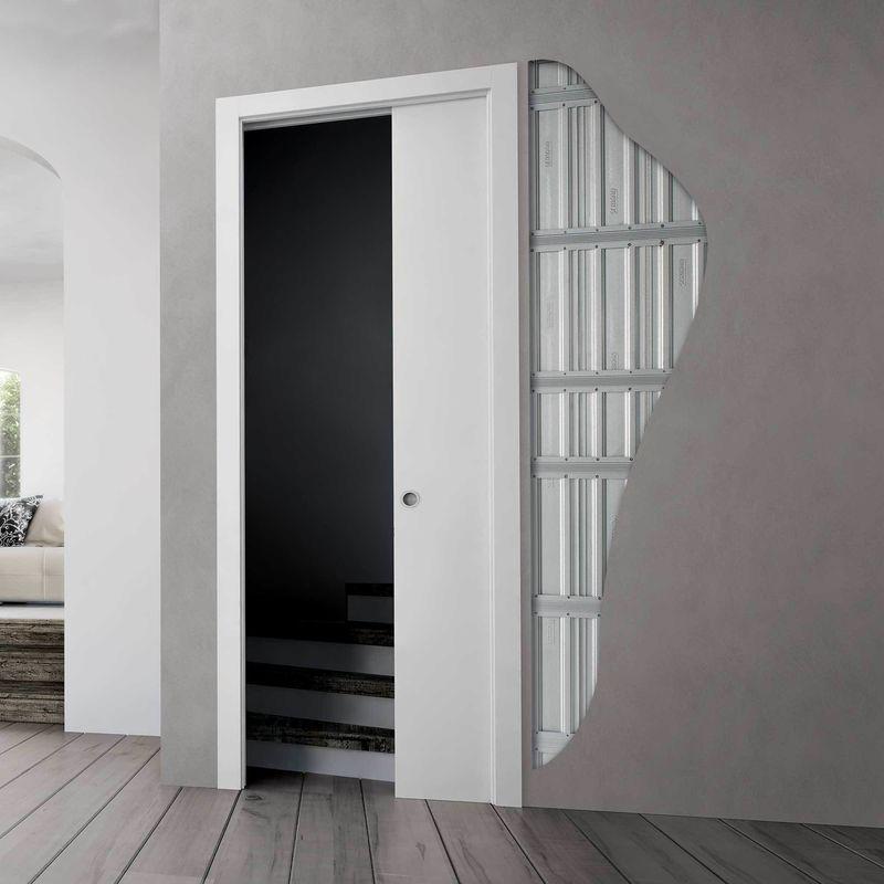 Double door coffin with plasterboard Gold door -…